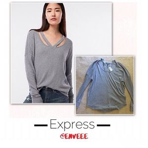 Express Gray Sweater, New With Tags